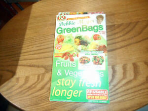 Debbie Meyer Green Bags Reusable Fruit & Vegetable Storage 5 Large & 5 Medium