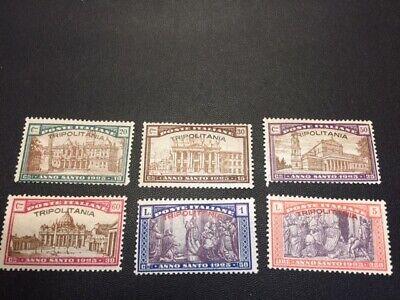 Tripolitania stamp set B1-B6 mint hinged