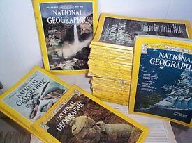32 National Geographic magazines