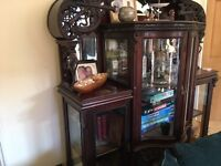 Beautiful rosewood antique cabinet - top notch example