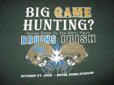 Big Game Hunting UCLA BRUINS vs NOTRE DAME FIGHTIN IRISH Oct 21 2006 (2XL) Shirt