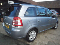 0958 VAUXHALL ZAFIRA 2.2i 16v EXCLUSIVE AUTOMATIC 7 SEATER LIGHTNING SILVER FAB