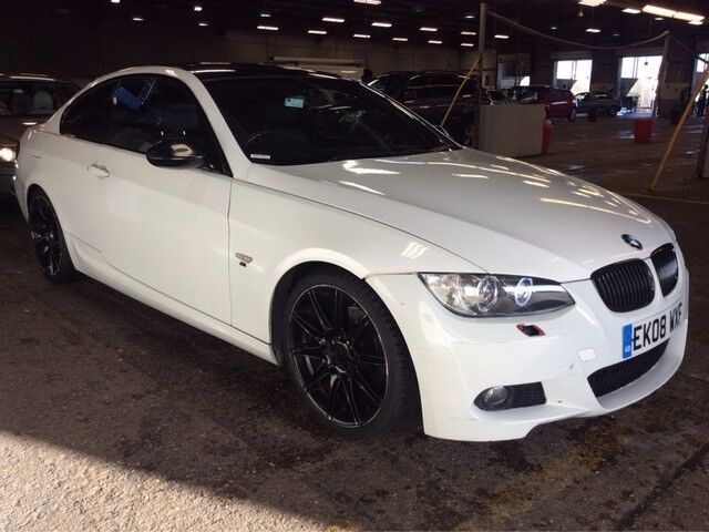 2008 bmw 320d 3 series 2 0 m sport diesel manual coupe white long mot leathers n 1 6 5 c class - Bmw 2 series coupe white ...