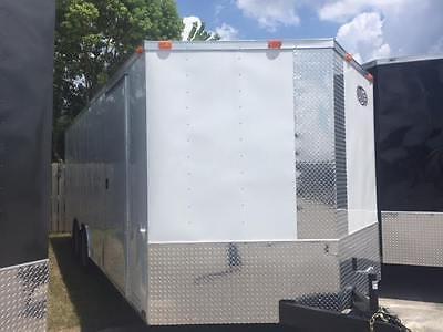 2021 8.5x20 Ft Enclosed Cargo Trailer *5 Year Warranty* Semi Screwless Exterior
