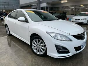 2010 Mazda 6 GH1052 MY10 Classic White 6 Speed Manual Hatchback Fyshwick South Canberra Preview