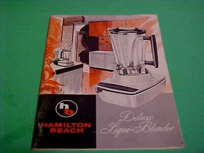 HAMILTON BEACH DELUXE LIQUI-BLENDER SEVEN-SPEED MANUAL / RECIPE BOOK MID CENTURY