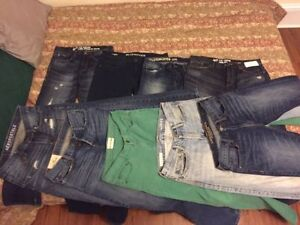 Clearing mens jeans mostly 30/32