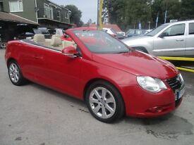 VOLKSWAGEN EOS 2.0 SPORT FSI DSG 2d AUTO 198 BHP (red) 2007