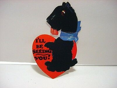 Vintage Valentine: CARRINGTON-A Large SCOTTISH TERRIER Standing on Hind Legs