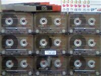 JL CHEAPEST ONLINE 9x TDK D 120 D120 CASSETTE TAPES 1988-1989 W/ CARDS CASES LABELS ALL VGC