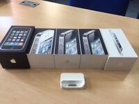 5 Empty Apple iPhone 3GS/4/5 Boxes