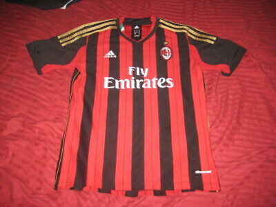 Adidas Fly Emirates Soccer AC Milan Climacool Gibson #10 Jersey, Youth Medium