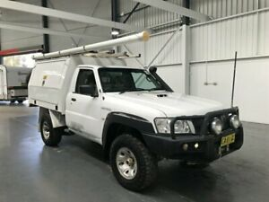 2014 Nissan Patrol MY11 Upgrade DX (4x4) Polar White 5 Speed Manual Leaf Cab Chassis