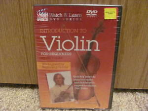 Violin DVD Tape Intro Learn Acoustic Guitar Beginners New DVD