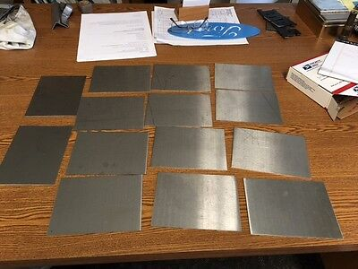 22 Gauge Stainless Steel Sheet Metal Scrap Hho  15 Pcs