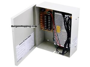 8 Channel CCTV Camera Power Supply - 12VDC 13Amps