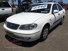 2004 Nissan Pulsar N16 MY03 ST White 4 Speed Automatic Sedan Lansvale Liverpool Area Preview