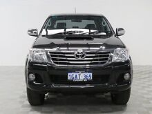 2013 Toyota Hilux KUN26R MY12 SR5 (4x4) Black 4 Speed Automatic Dual Cab Pick-up Jandakot Cockburn Area Preview