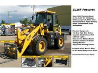 2014 ZL Wheel Loader w. 100 HP Cummins and 4 Attachments