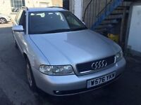 Audi A4 1.9 TDI, starts and drives fantastic, 1 years MOT, 1 owner from new, clean inside and out