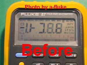 Fluke 87 & 87-lll Repair Kit for Fading LCD Digital Display + Fluke Case Screw