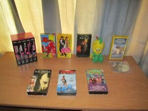 Collectible Movies VHS Type, QTY = 7 + BONUSES = 1 Toy & 1 DVD