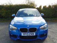 BMW 1 SERIES 2.0 118D M SPORT 5d AUTOMATIC (blue) 2013