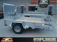 ONTARIO TRAILERS 5x8 galvanized high side utility