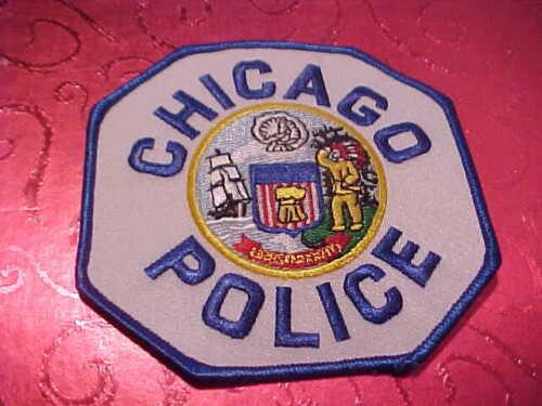 CHICAGO ILLINOIS POLICE PATCH SHOULDER SIZE UNUSED BLUE EDGE