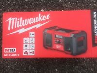 MILWAUKEE RADIO M18-JSR-O NEW STILL IN BOX UNUSED WITH WARRANTY