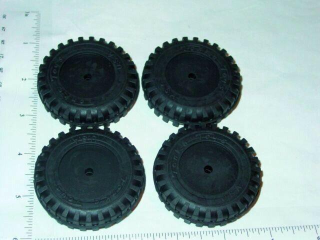 Set of 4 Rubber Tonka Script Tire Toy Parts TKP-019-4