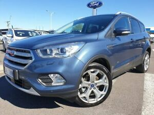 2018 Ford Escape ZG 2018.75MY Titanium PwrShift AWD Blue 6 Speed Sports Automatic Dual Clutch Wagon Kilmore Mitchell Area Preview