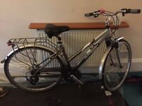 Sturdy ladies bike - good condition - 21 gears - front and seat suspension - £100
