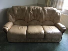 Three piece leather suite in good condition little used. See pictures for details.