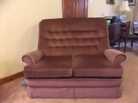 Parker Knoll 2 seater settee and matching single recliner chair
