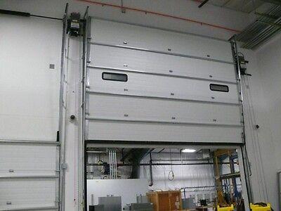 Overhead Commercial Garage Door 10x10 S599 Insulated Rsx Oprsxh5001sbr Opener