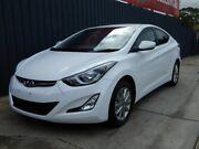 2014 Hyundai Elantra MD3 Trophy White 6 Speed Sports Automatic Sedan Blair Athol Port Adelaide Area Preview