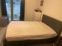 Kingsize Bed Frame and Mattress