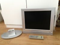 15 inch flat screen TV with stand and wall bracket