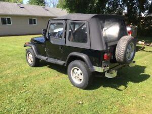 1995 Jeep Wrangle Sahara Automatic with AC
