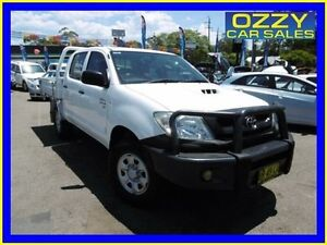 2010 Toyota Hilux KUN26R 09 Upgrade SR (4x4) White 5 Speed Manual Dual Cab Chassis Penrith Penrith Area Preview