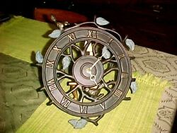 CAST METAL OPEN SCROLL AVIARY THEME WALL CLOCK BIRDS/VINES TESTED WORKS 12X12
