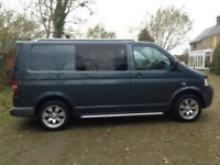 VW Transporter T5 17 inch alloy wheels with almost new tyres all round only done 1900 miles