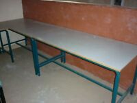 4 large tables for workshop or office