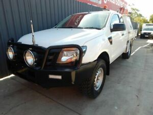 2012 Ford Ranger PX XL White 6 Speed Manual Cab Chassis Blair Athol Port Adelaide Area Preview