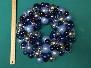 "Christmas Wreath made of glass tree ornaments (17"" diameter)"