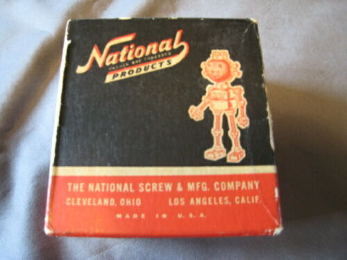 96 Vintage National Products Flat Head Brass Machine Screws