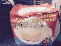 Hamster rotostack, tunnel, burrow basement, dining room, maze unit small pet carrier