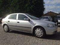 Vauxhall Astra 1.6 Club, 5 Dr, Silver, Very Low Miles, Full Service History, Part Exchange to Clear