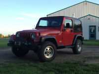 1997 Jeep TJ - Winch, Lift, Extra rims/tires and A/C